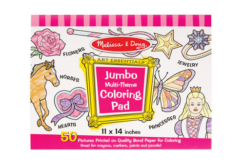 M&D  JUMBO COLORING PAD  PINK