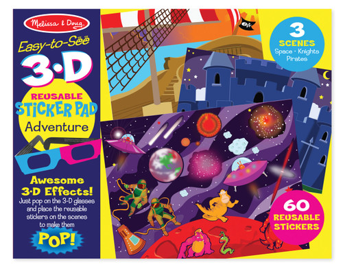 M&D EASY TO SEE 3D REUSABLE STICKER - ADVENTURE