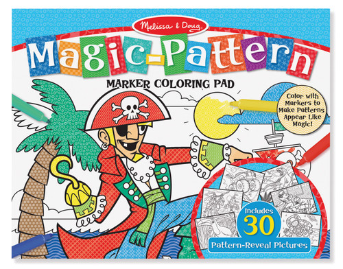 M&D MAGIC PATTERN MARKER COLOURING PAD - BLUE