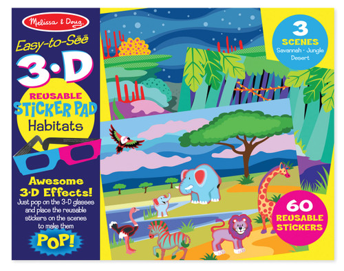 M&D EASY TO SEE 3D REUSABLE STICKER - HABITAT