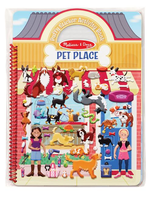 M&D REUSABLE PUFFY STICKER ACTIVITY BOOK - PET PLACE