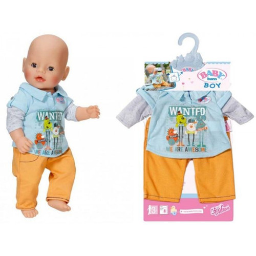 BABY BORN BOY OUTFIT - YELLOW PANTS