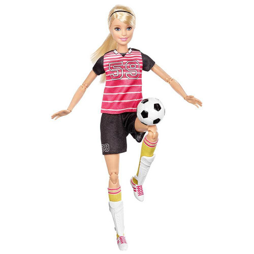 BARBIE MADE TO MOVE ACTION DOLL - SOCCER PLAYER BLONDE
