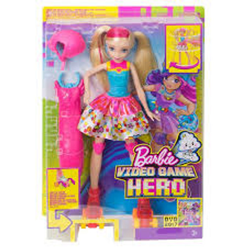 BARBIE VIDEO GAME HERO LIGHT UP SKATES