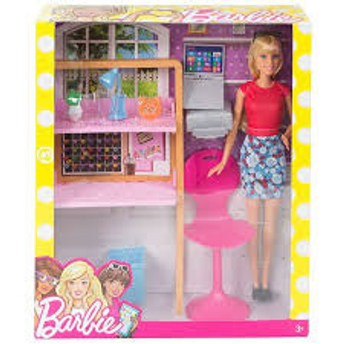BARBIE ROOM & DOLL - STUDY