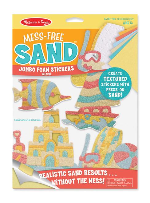 M&D - MESS FREE SAND JUMBO FOAM STICKERS - BEACH