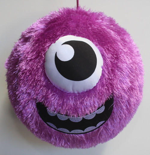 FUZZY BALL PURPLE CYCLOPS 31CM