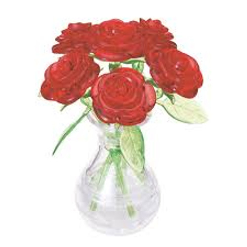 3D RED ROSES CRYSTAL PUZZLE