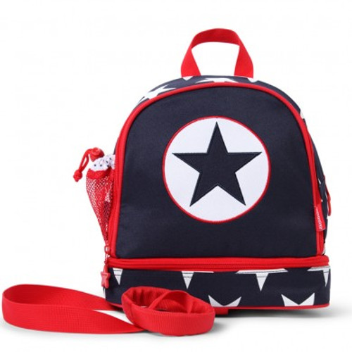 PENNY SCALLAN JUNIOR BACKPACK WITH REIN - NAVY STAR