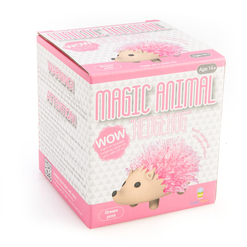 GROWING CRYSTAL HEDGEHOG - PINK