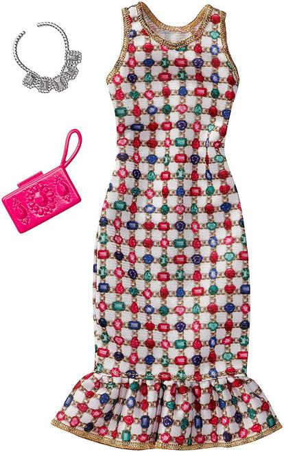 BARBIE FASHION JEWELL DRESS WITH PINK BAG