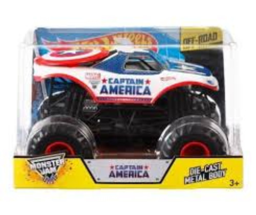 MONSTER JAM 1:24 SCALE CAPTAIN AMERICA