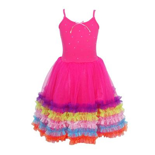 FIESTA DRESS SIZE 5/6 - HOT PINK