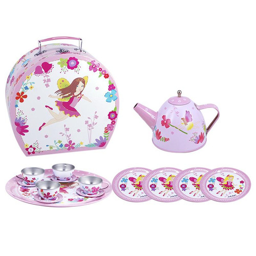 FAIRYTALE TIN TEA SET IN CARRY