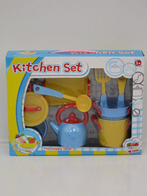 KITCHEN COOKING PLAY SET - 11 PIECES