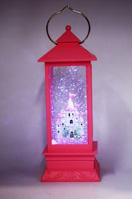 LANTERN - PINK WITH CASTLE