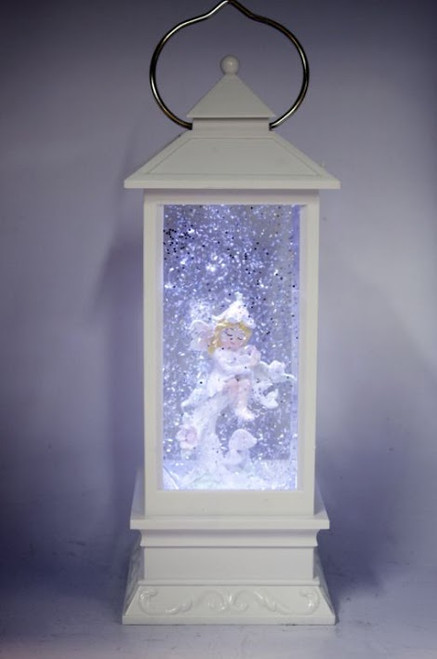 LANTERN - WHITE WITH FAIRY/TREE