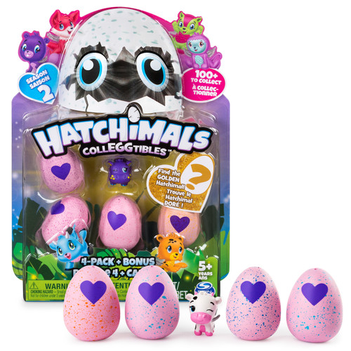 HATCHIMALS COLLEGGTIBLES - SERIES 2 4PK WITH BONUS