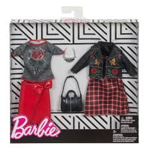 BARBIE FASHION TWIN PACK WITH BLACK BAG