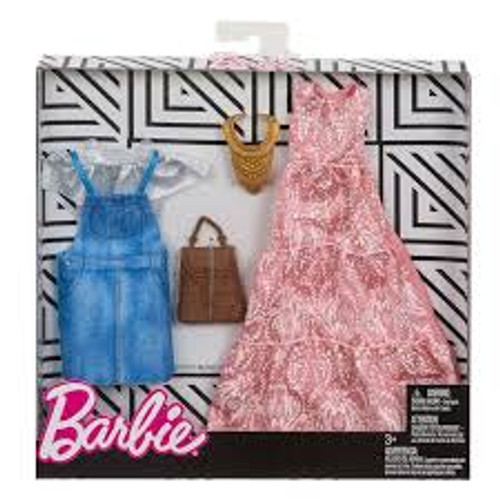 BARBIE FASHION TWIN PACK WITH BROWN BAG