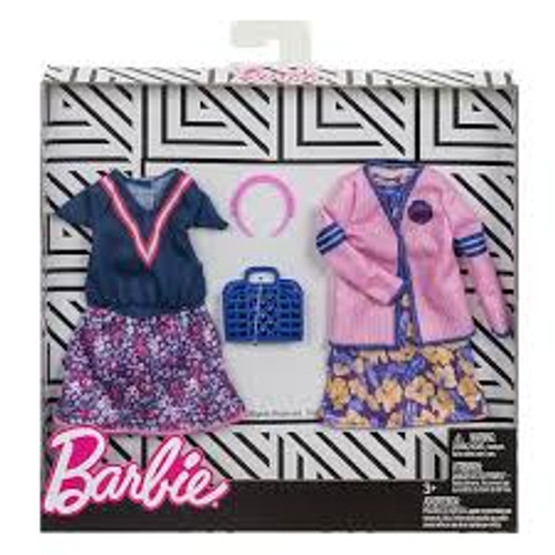 BARBIE FASHION TWIN PACK WITH BLUE BAG