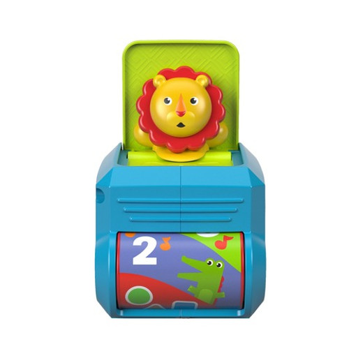FISHER PRICE SPIN N SURPRISE LION (JACK-IN-THE-BOX)