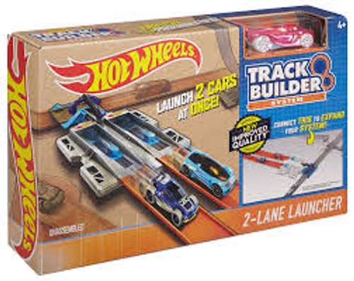 HOT WHEELS TRACK BUILDER - 2-LANE LAUNCHER