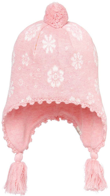 TOSHI BEANIE -  EARMUFF FLOWER BLUSH SMALL