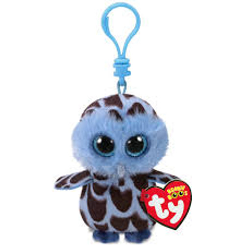 BEANIE BOOS CLIP ONS YAGO THE BLUE OWL