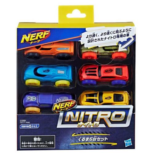 NERF NITRO FOAM CAR 6 PACK