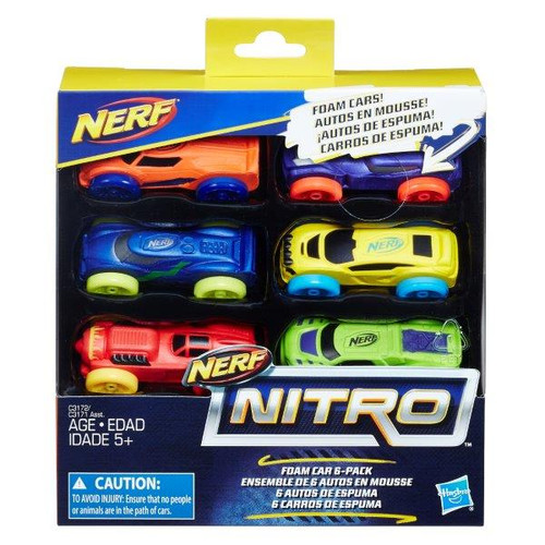 NERF NITRO FOAM CAR 6 PACK (sp85138)}