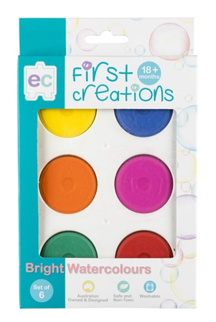 BRIGHT WATERCOLOOURS SET OF 6