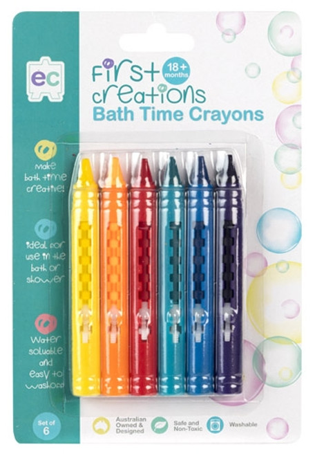 BATH CRAYONS SET OF 6