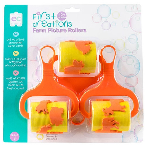 FARM PICTURE ROLLERS SET OF 3