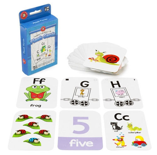 FLASHCARDS - ALPHABET AND NUBERS 1-10