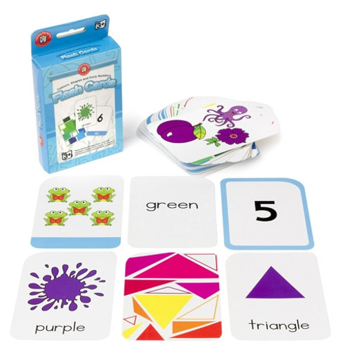 FLASHCARDS - COLOURS SHAPES AND EARLY NUMBERS
