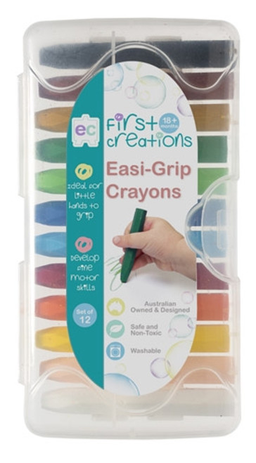 EASI-GRIP CRAYONS SET OF 12