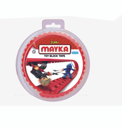 ZURU MAYKA TAPE 2 STUD 1M ROLL - RED