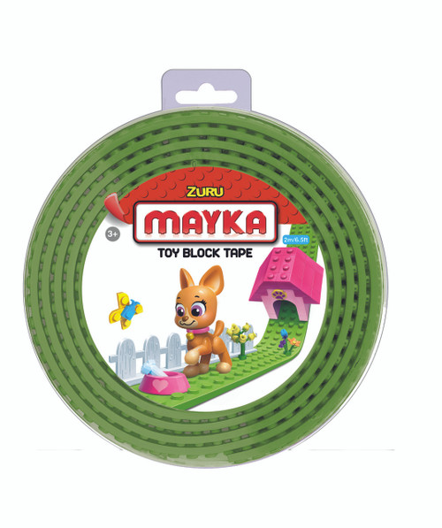 ZURU MAYKA TAPE 2 STUD 2M ROLL - GREEN