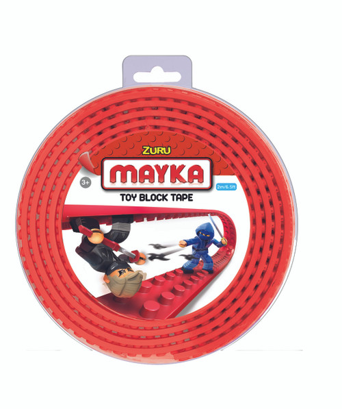 ZURU MAYKA TAPE 2 STUD 2M ROLL - RED