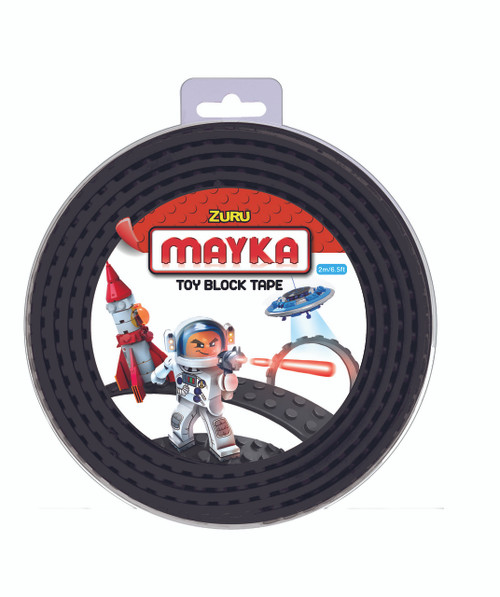 ZURU MAYKA TAPE 4 STUD 2M ROLL - BLACK