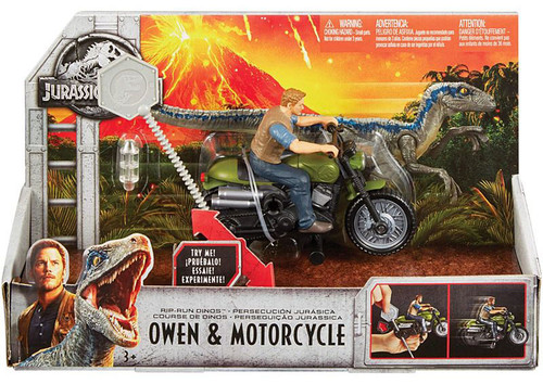 JURASSIC WORLD RIPCORD CHASERS OWEN & MOTORCYCLE