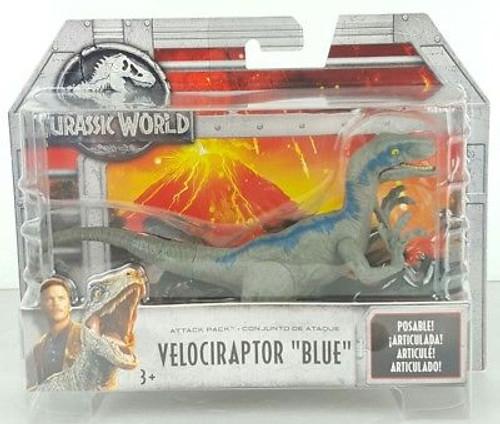 JURASSIC WORLD ATTACK PACK - VELOCIRAPTOR BLUE