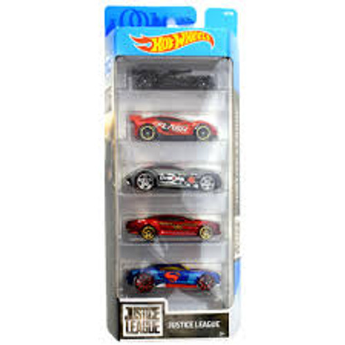 HOT WHEELS 50TH ANNIVERSARY 5 PACK - JUSTICE LEAGUE