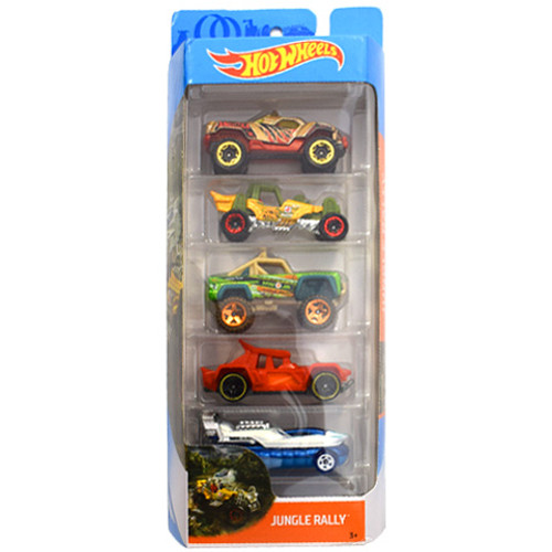HOT WHEELS 50TH ANNIVERSARY 5 PACK - JUNGLE RALLY