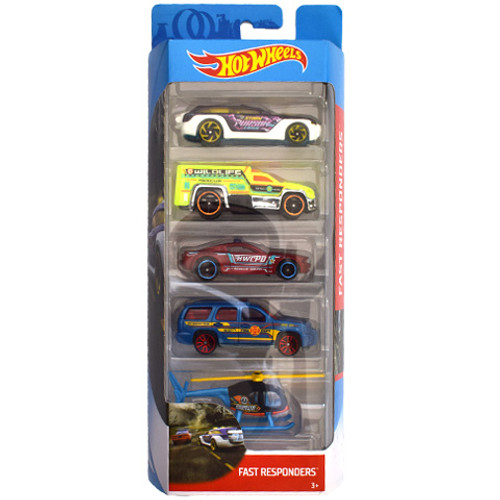 HOT WHEELS 50TH ANNIVERSARY 5 PACK - FAST RESPONDERS