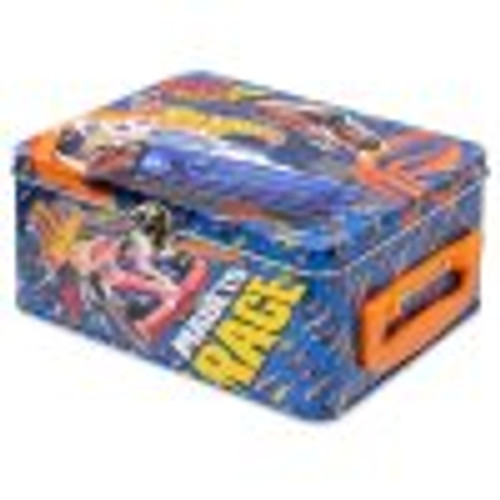 HOT WHEELS TIN CARRY CASE 18PC BLUE