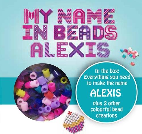NAME BEADS - ALEXIS