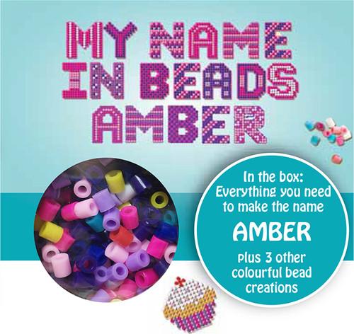 NAME BEADS - AMBER