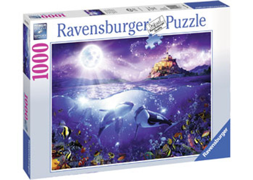 RAVENSBURGER - WHALES IN THE MOONLIGHT PUZZLE 1000 PCE
